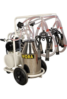Wora Çiftli Süt Sağma Makinası Kuru Tip Tekerlekli