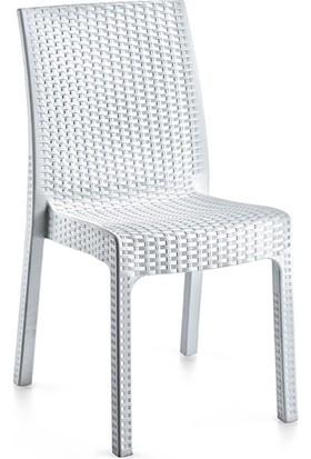 Holiday Deluxe Kolsuz Rattan Sandalye Beyaz H139