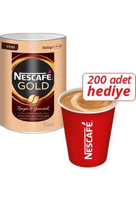 Nescafe Gold 900gr 200lü + Karton Bardak