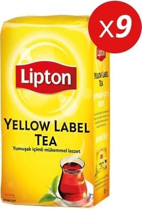 Lipton Yellow Label Dökme Çay 1000 gr X 9 Lu