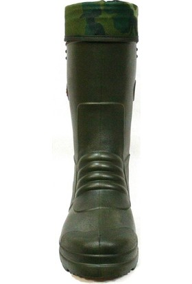 Akınal Bella Termal Çoraplı Su Geçirmez Çizme Haki 40