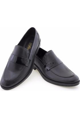 Alkan Siyah Rugan Şeritli Klasik Erkek Ayakkabı