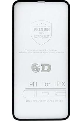 Unipha Apple iPhone X 6D Temperli Cam Full Ekran Koruyucu - Siyah
