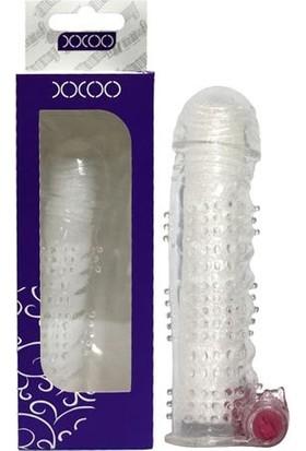 XXOO Titreşi mli Tırtıklı Şeffaf Penis Kılıfı - 1