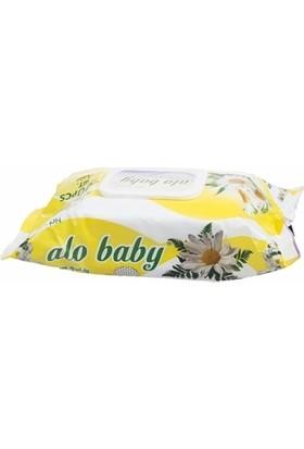 Alo Baby Papatyalı Islak Temizleme Mendili 102 Adet