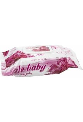 Alo Baby Güllü Islak Temizleme Mendili 102 Adet