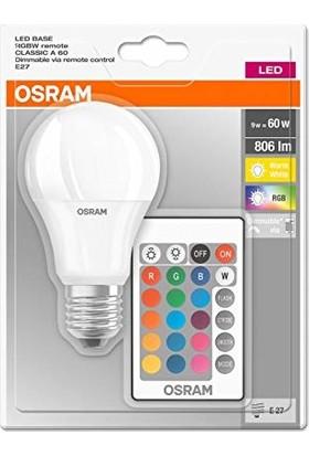 Osram Led Uzaktan Kumandalı Renk Değiştiren 9W 806 LM E27 Ampul