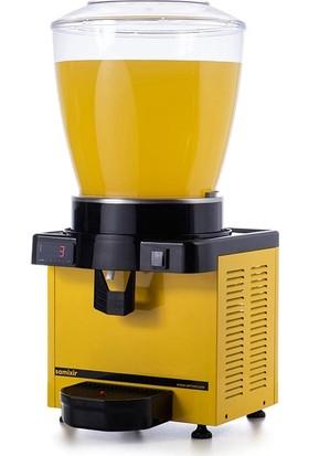 Samixir M22 Soğuk İçecek Dispenseri, 22 L, Dijital, Panaromik, Sarı