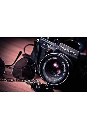 Yaylera Fotoğraf Makinesi Gözlük Temalı Dekoratif Kanvas Tablo 70*100 cm