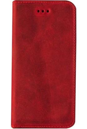 Book Case Apple iPhone XS MAX Suni DeriKılıf Book Case Boni Kahverengi Cüzdanlı