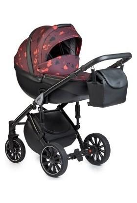 Anex® Sport 3'ü 1 Arada Bebek Arabası Set - Kırmızı Benekli