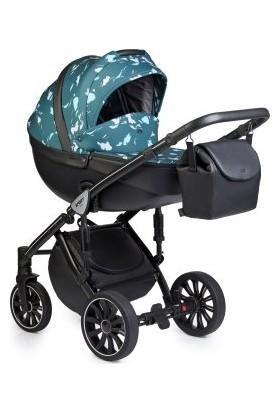 Anex® Sport 2'si 1 Arada Bebek Arabası Set - Mavi Benekli