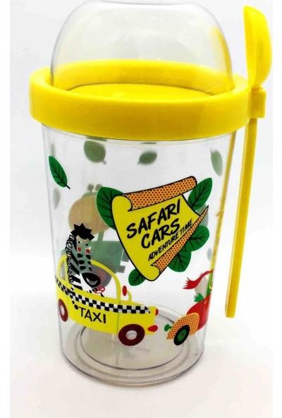 Poppard Safari Capsule 450 ML + 100 ML Granola Atıştırmalık Kabı - Sarı