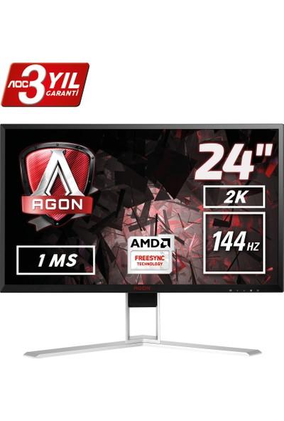 "AOC AGON AG241QX 23.8"" 144 Hz 1ms (Analog+DVI-D+HDMI+Display) FreeSync QHD Oyuncu Monitörü"