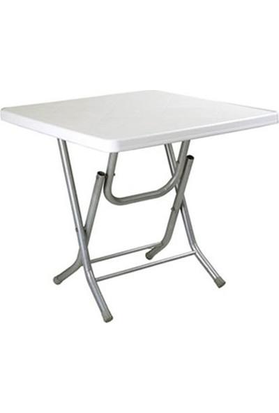 Plastico 80x80 Katlanır Masa Metal Ayaklı