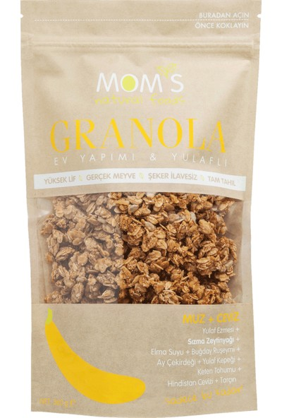 Mom'S Natural Foods Muz Ceviz granola 360 gr
