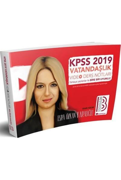 Benim Hocam Yayınları2019 KPSS Vatandaşlık Video Ders Notları - Esra Özkan Karaoğlu