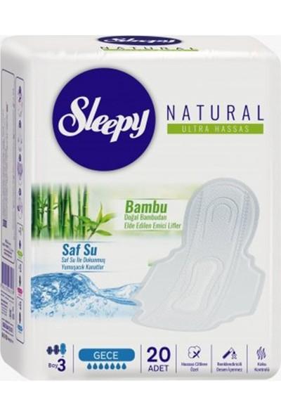 Sleepy Natural Ultra Hassas Hijyenik Ped Gece (20 Adet)