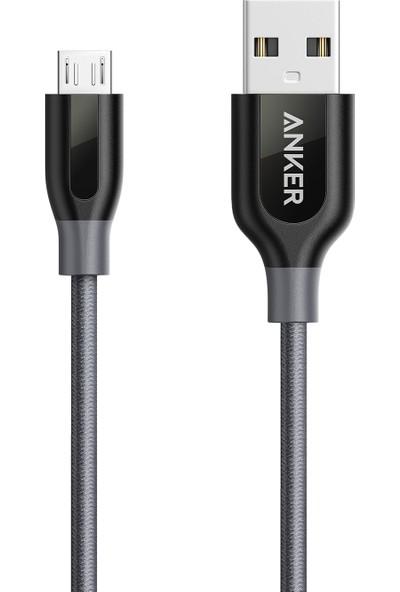 Anker Powerline+ Micro USB Örgülü Şarj/Data Kablosu 0.9 Metre - Gri - Taşıma Çantalı - A8142HA1