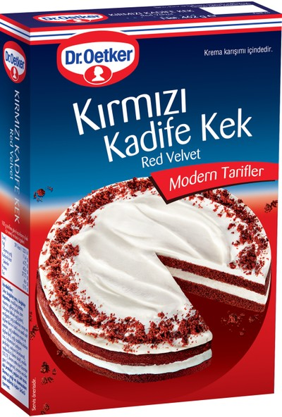 Dr. Oetker Kırmızı Kadife Kek Red Velvet 462 gr
