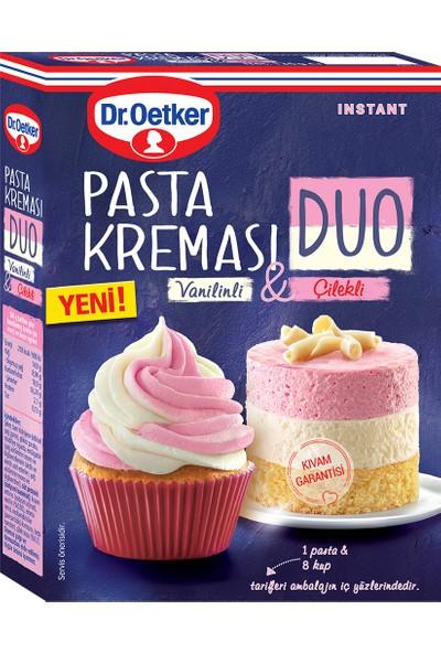 Dr. Oetker Duo Pasta Kreması Vanilinli & Çilekli 136 gr