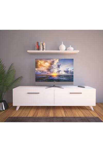 Nur Mobilya Güney Tv Sehpası Tv Ünitesi Beyaz