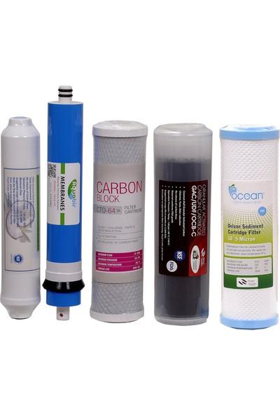 Aquabir Su Arıtma Cihazı 5 li Filtre Seti İhlas Uyumlu