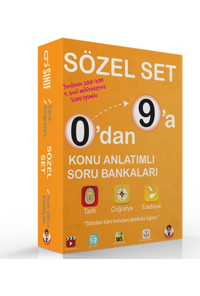 0'Dan 9'A Konu Anlatımlı Soru Bankası Sözel Set