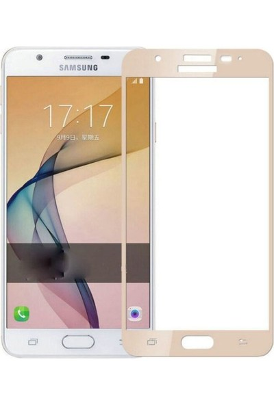 Case 4U Samsung Galaxy J7 Prime - J7 Prime 2 Full Kapatan Cam Ekran Koruyucu Altın