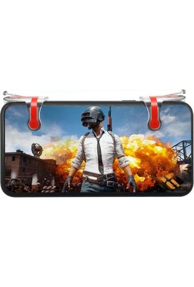 Case 4U Ateş Düğmesi - PUBG - Tüm Oyun ve Telefonlar ile Uyumlu Oyun Konsolu - Universal Oyun Adaptörü