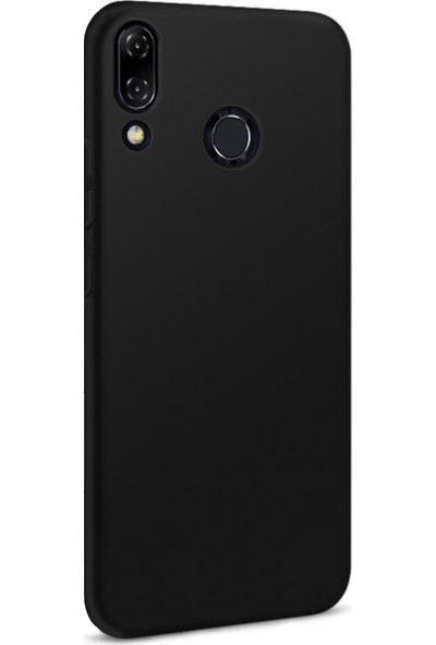 Microsonic Matte Silicone Asus Zenfone 5Z (6.2'') ZS620KL Kılıf Siyah
