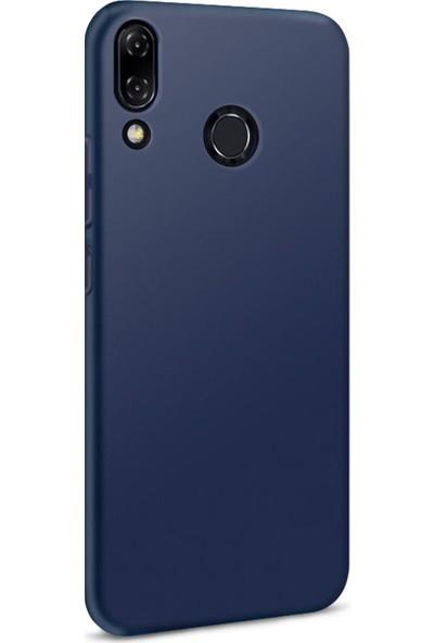 Microsonic Matte Silicone Asus Zenfone 5Z (6.2'') ZS620KL Kılıf Lacivert