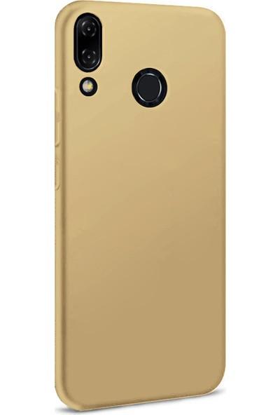 Microsonic Matte Silicone Asus Zenfone 5Z (6.2'') ZS620KL Kılıf Gold