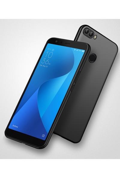 Microsonic Matte Silicone Asus Zenfone Max Plus M1 (5.7'') ZB570TL Kılıf Siyah