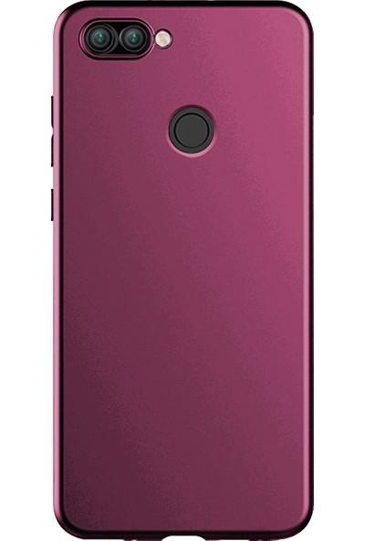 Microsonic Matte Silicone Asus Zenfone Max Plus M1 (5.7'') ZB570TL Kılıf Mor
