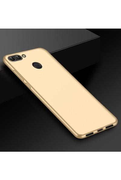 Microsonic Matte Silicone Asus Zenfone Max Plus M1 (5.7'') ZB570TL Kılıf Gold