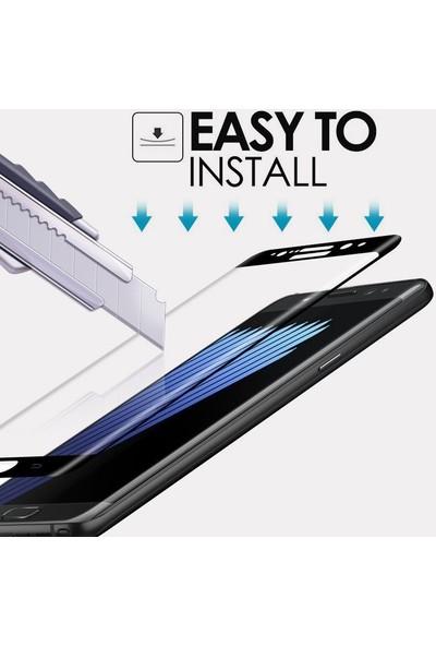 Microsonic Samsung Galaxy J7 Prime 2 3D Kavisli Temperli Cam Ekran Koruyucu Film Beyaz