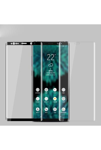 Microsonic Samsung Galaxy Note 9 Tam Kaplayan Temperli Cam Ekran Koruyucu Film Siyah