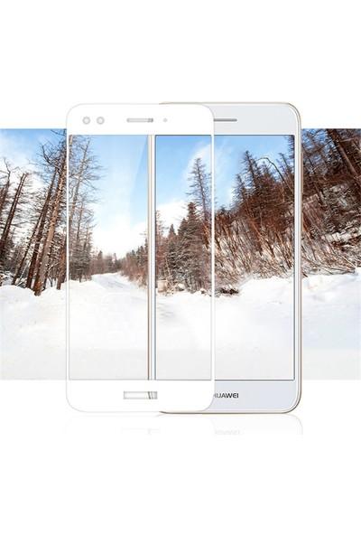 Microsonic Huawei P9 Lite Mini Tam Kaplayan Temperli Cam Ekran Koruyucu Film Beyaz