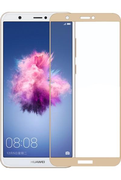 Microsonic Huawei P Smart Tam Kaplayan Temperli Cam Ekran Koruyucu Film Gold