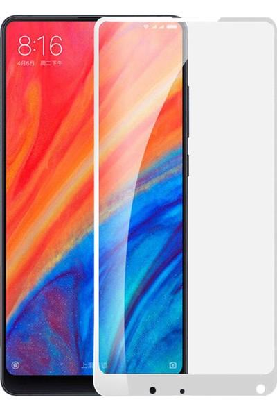 Microsonic Xiaomi Mi Mix 2S Tam Kaplayan Temperli Cam Ekran Koruyucu Film Beyaz