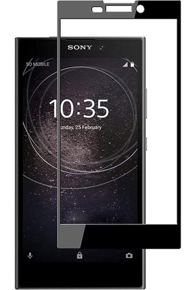 Microsonic Sony Xperia L2 Tam Kaplayan Temperli Cam Ekran Koruyucu Film Siyah