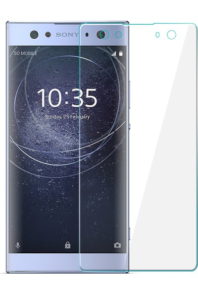 Microsonic Sony Xperia XA2 Ultra Tam Kaplayan Temperli Cam Ekran Koruyucu Film Şeffaf