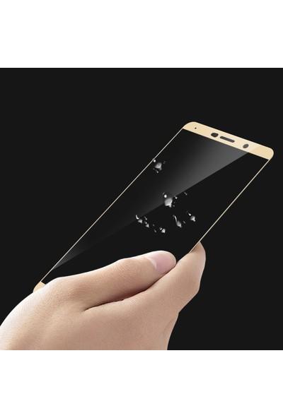 Microsonic Huawei Mate 10 Tam Kaplayan Temperli Cam Ekran Koruyucu Film Siyah