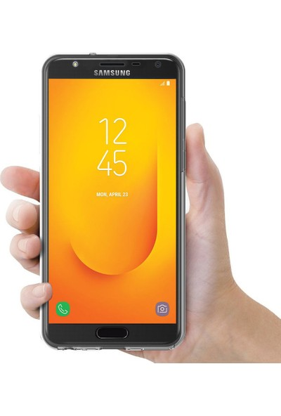 Microsonic Samsung Galaxy J7 Duo Kılıf 6 Tarafı Tam Full Koruma 360 Clear Soft Şeffaf