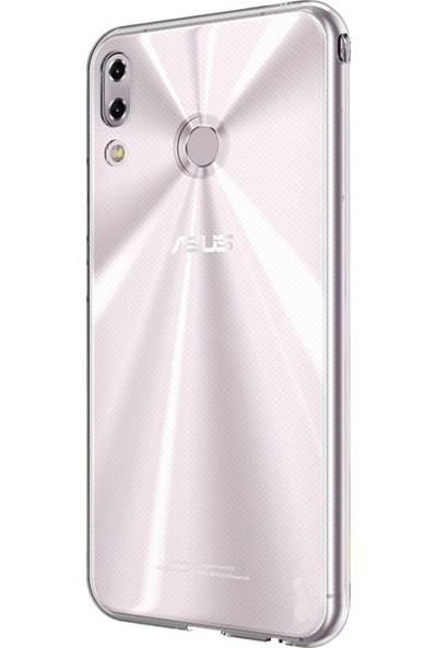 Microsonic Asus Zenfone 5Z (6.2'') ZS620KL Kılıf Transparent Soft Beyaz