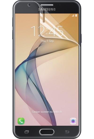 Microsonic Samsung Galaxy J7 Prime 2 Kavisler Dahil Tam Ekran Kaplayıcı Şeffaf Koruyucu Film