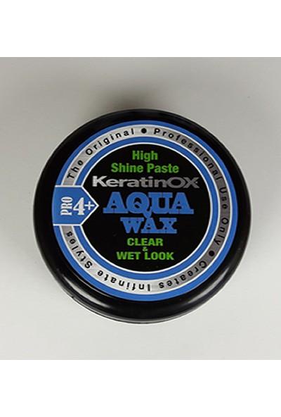 Aqua Wax KeratinOX Şeffaf Wax High Shine Paste Aqua Wax Pro 3+ Hair Styling Wax Clear & Wet Look