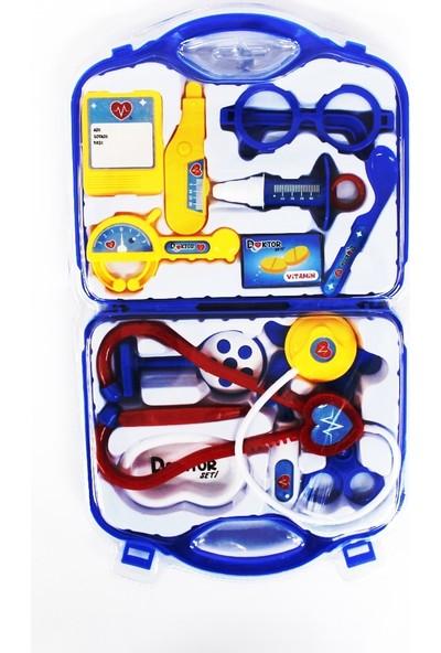 Mega Oyuncak Doktor Çantası Mavi Kutuda 14 Parça