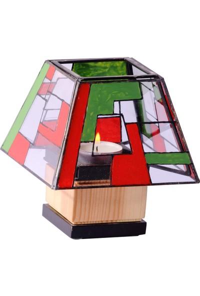 Woodenplus Marka Candle Modeli Ahşap Kombin Dekoratif Mumluk